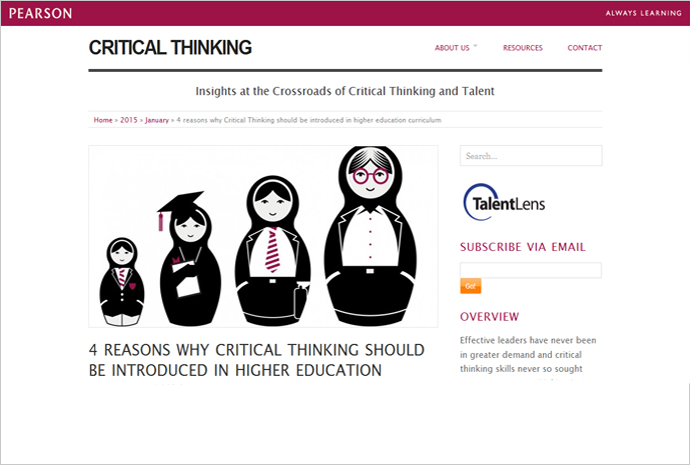 critical thinking learning labs Critical thinking gives complexity labs is an online platform for complex systems providing a wide variety of users with, information, learning and media.